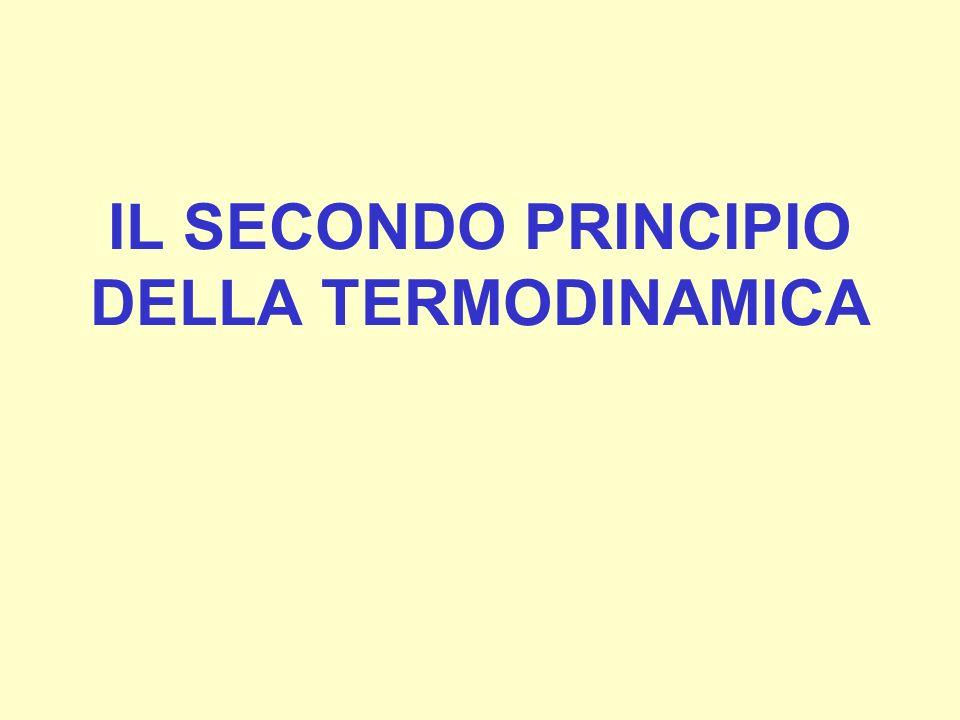 IL SECONDO PRINCIPIO DELLA TERMODINAMICA