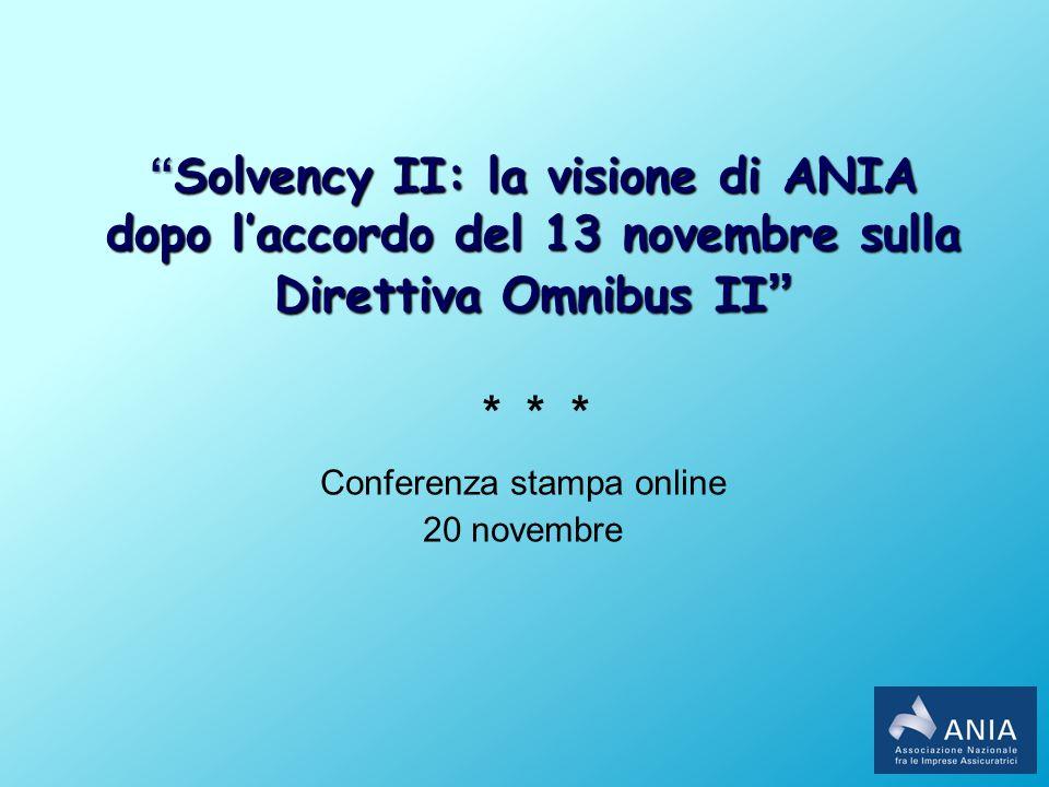 Solvency II: la visione di ANIA