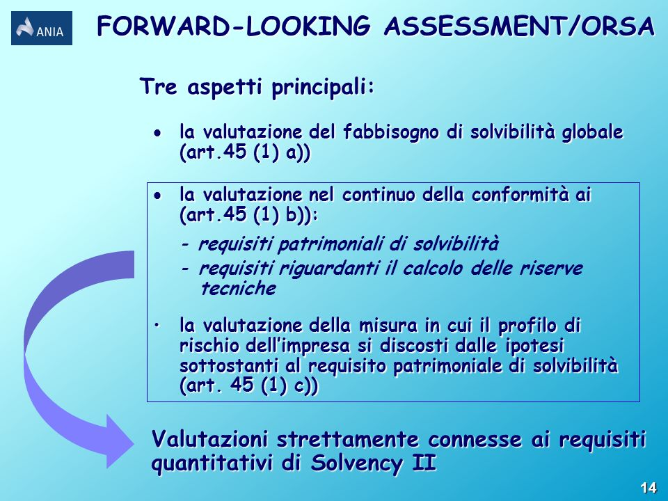 FORWARD-LOOKING ASSESSMENT/ORSA