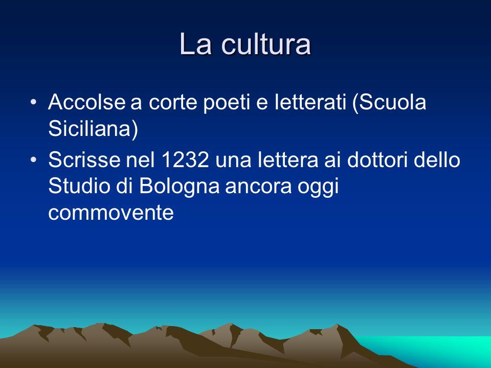 La cultura Accolse a corte poeti e letterati (Scuola Siciliana)