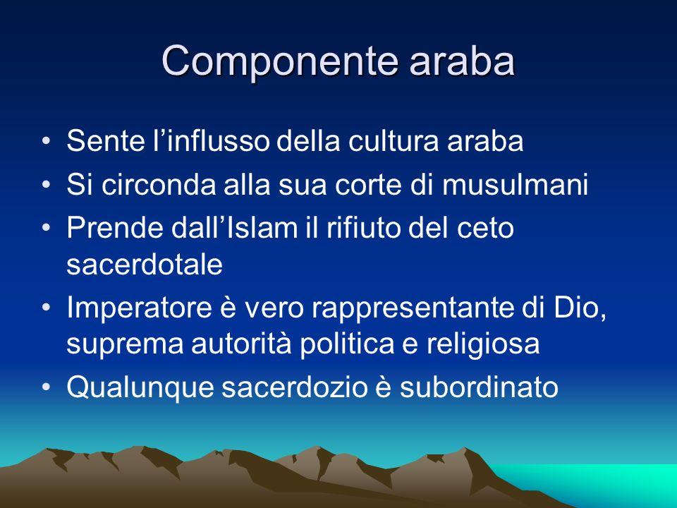 Componente araba Sente l'influsso della cultura araba