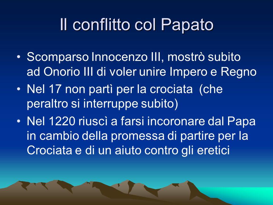 Il conflitto col Papato