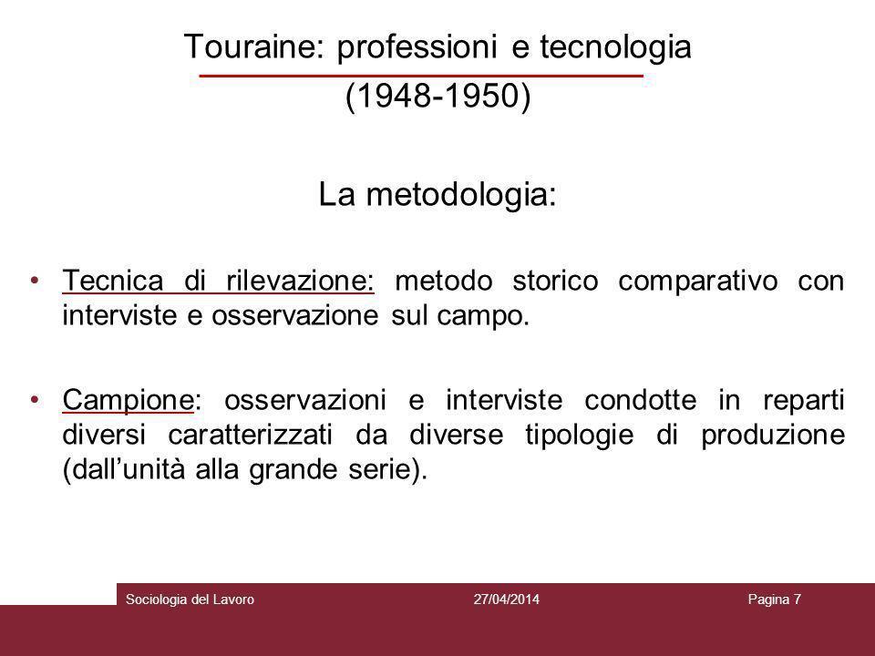Touraine: professioni e tecnologia