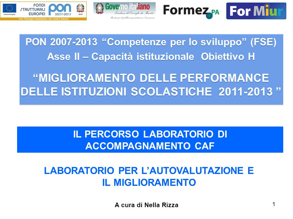 PON 2007-2013 Competenze per lo sviluppo (FSE)