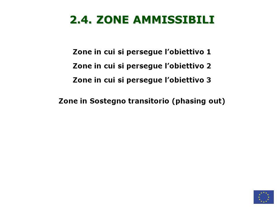 2.4. ZONE AMMISSIBILI Zone in cui si persegue l'obiettivo 1