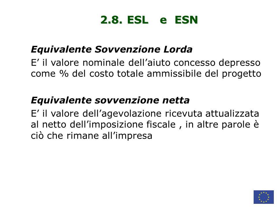 2.8. ESL e ESN Equivalente Sovvenzione Lorda