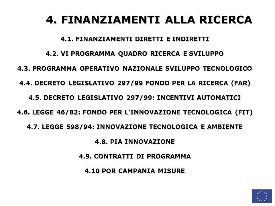 4. FINANZIAMENTI ALLA RICERCA