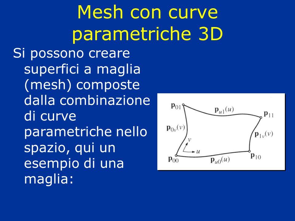 Mesh con curve parametriche 3D