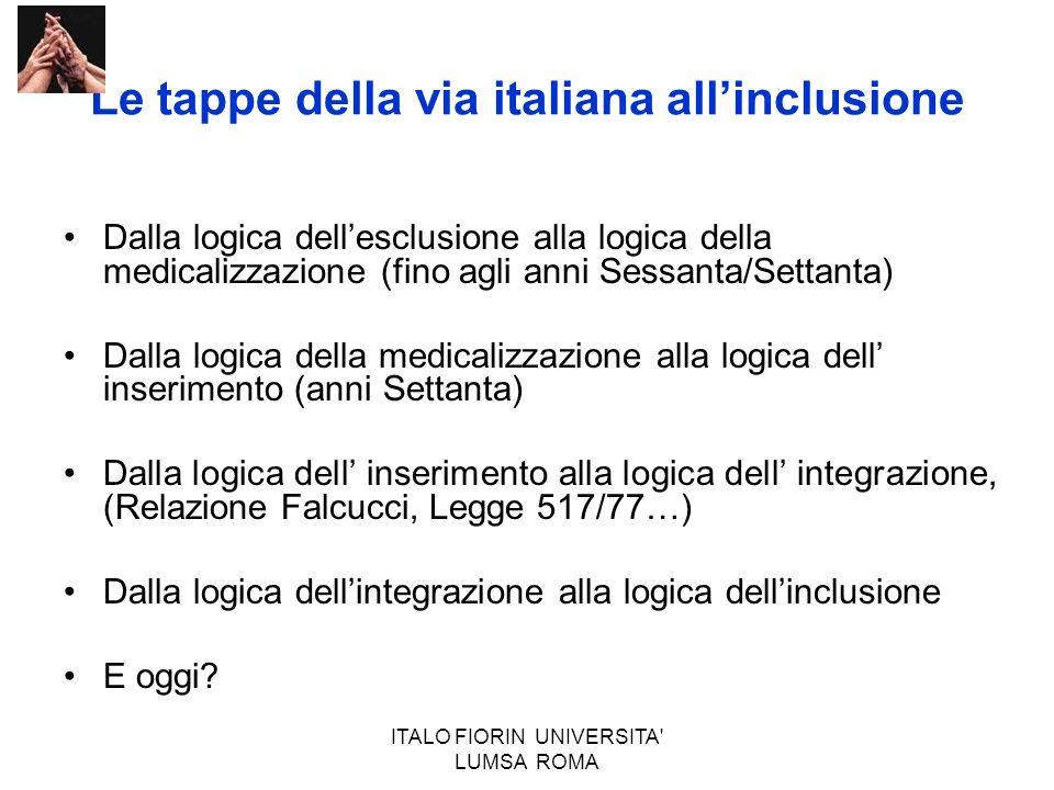 Le tappe della via italiana all'inclusione