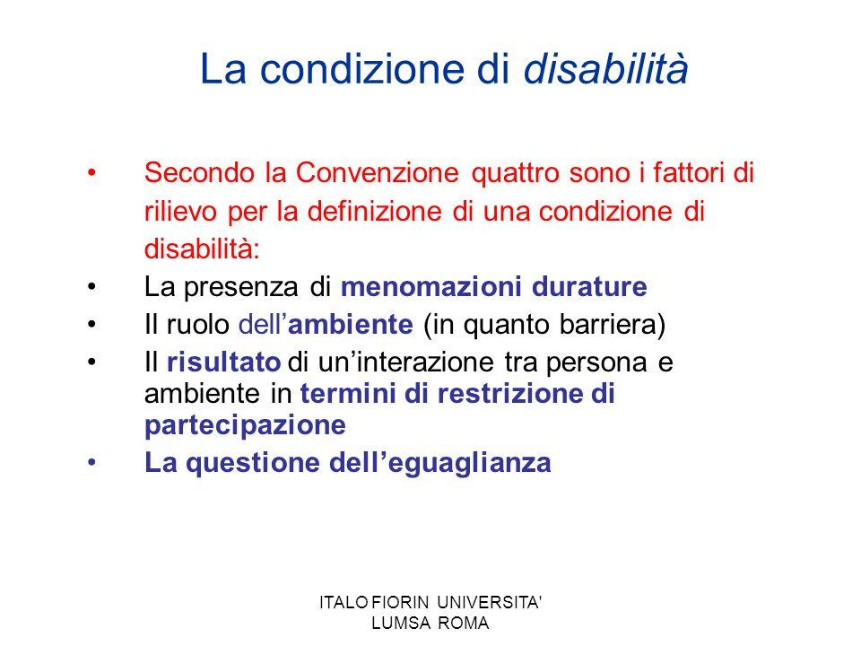 La condizione di disabilità