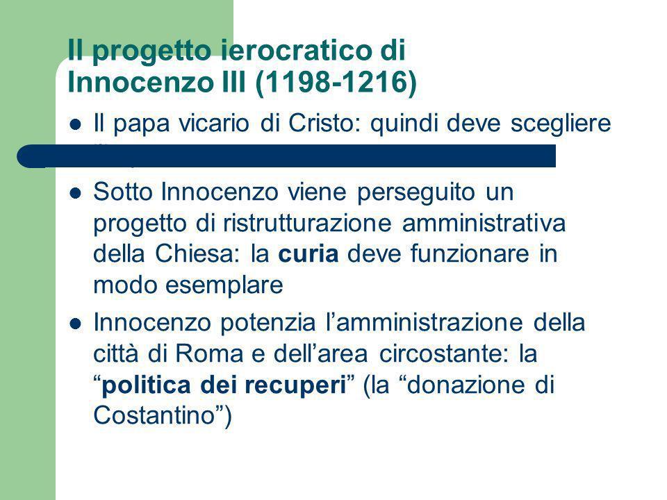 Il progetto ierocratico di Innocenzo III (1198-1216)
