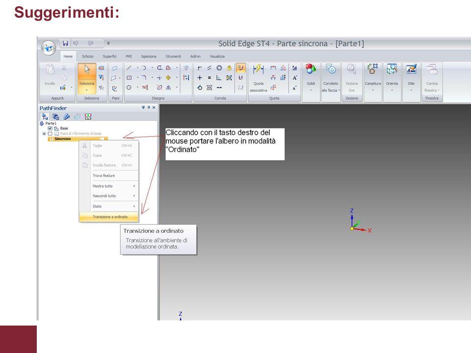 Suggerimenti: Appunti delle lezioni di Laboratorio CAD