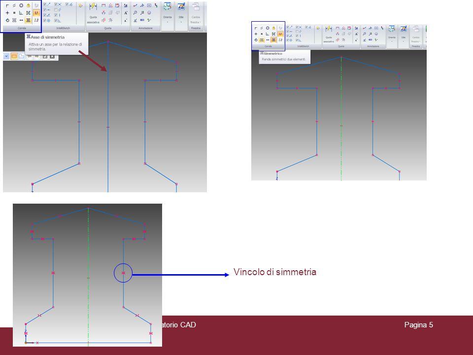 Vincolo di simmetria Appunti delle lezioni di Laboratorio CAD