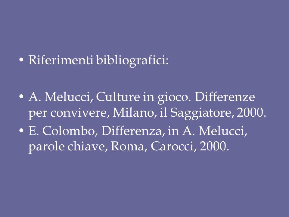 Riferimenti bibliografici: