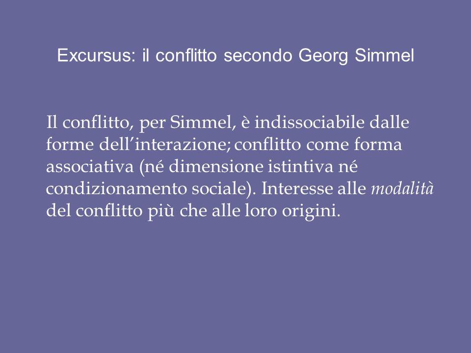 Excursus: il conflitto secondo Georg Simmel