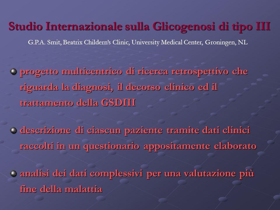 Studio Internazionale sulla Glicogenosi di tipo III