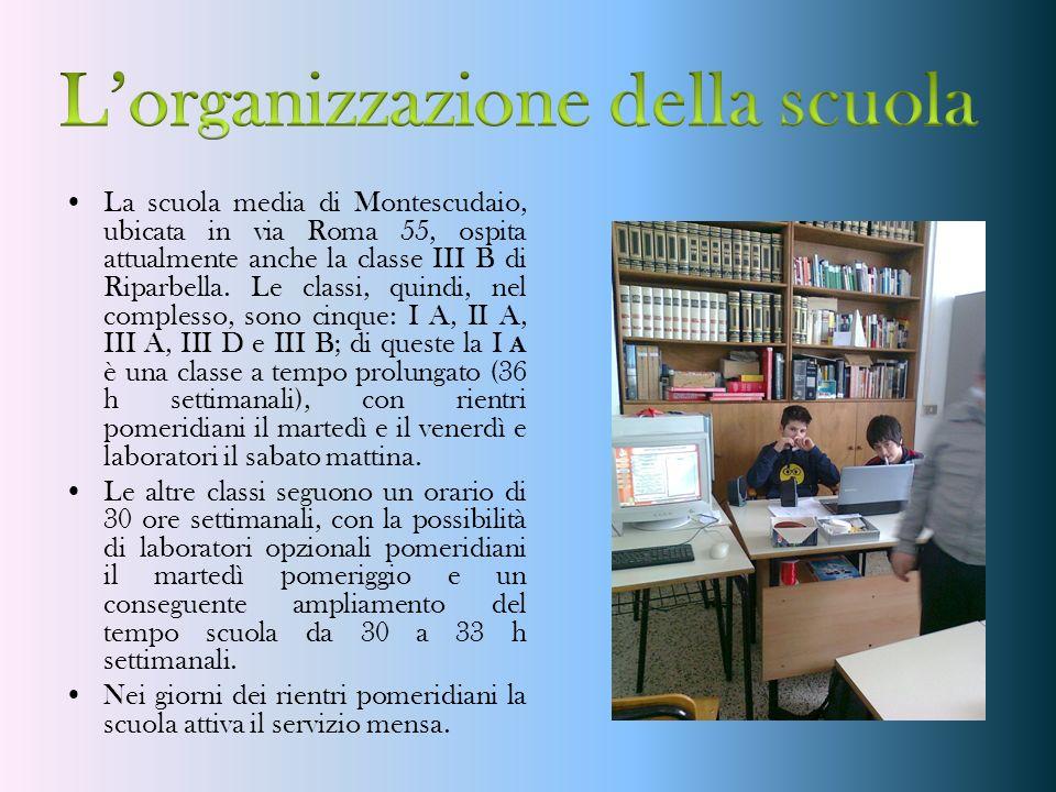 L'organizzazione della scuola