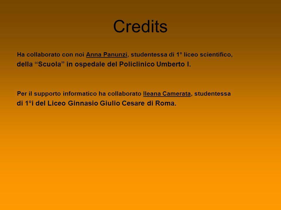 Credits della Scuola in ospedale del Policlinico Umberto I.