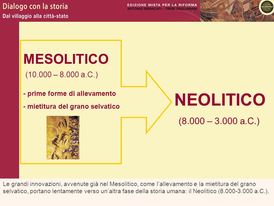 NEOLITICO MESOLITICO (8.000 – 3.000 a.C.) (10.000 – 8.000 a.C.)