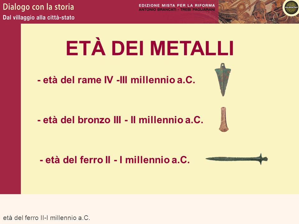 ETÀ DEI METALLI - età del rame IV -III millennio a.C.