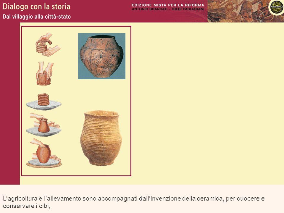 L'agricoltura e l'allevamento sono accompagnati dall'invenzione della ceramica, per cuocere e conservare i cibi,