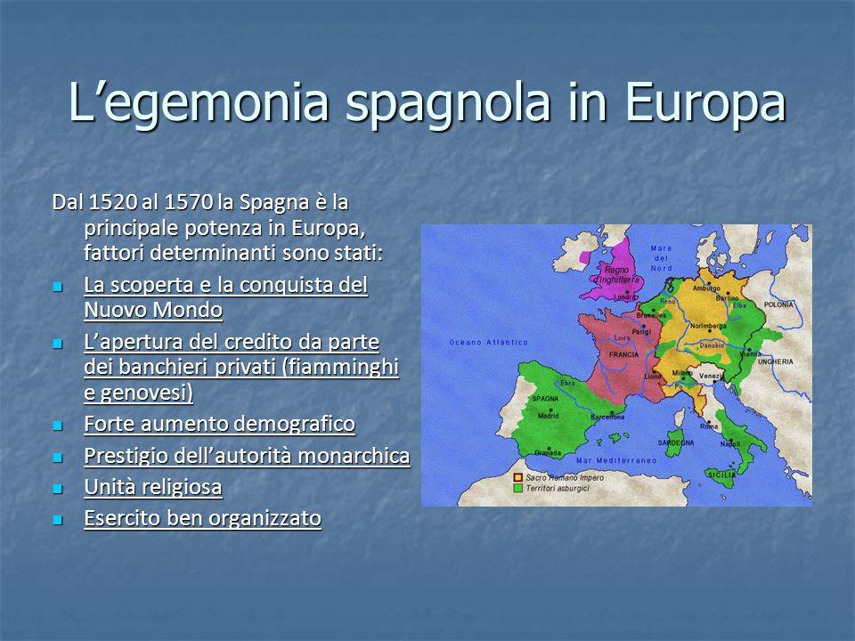 L'egemonia spagnola in Europa