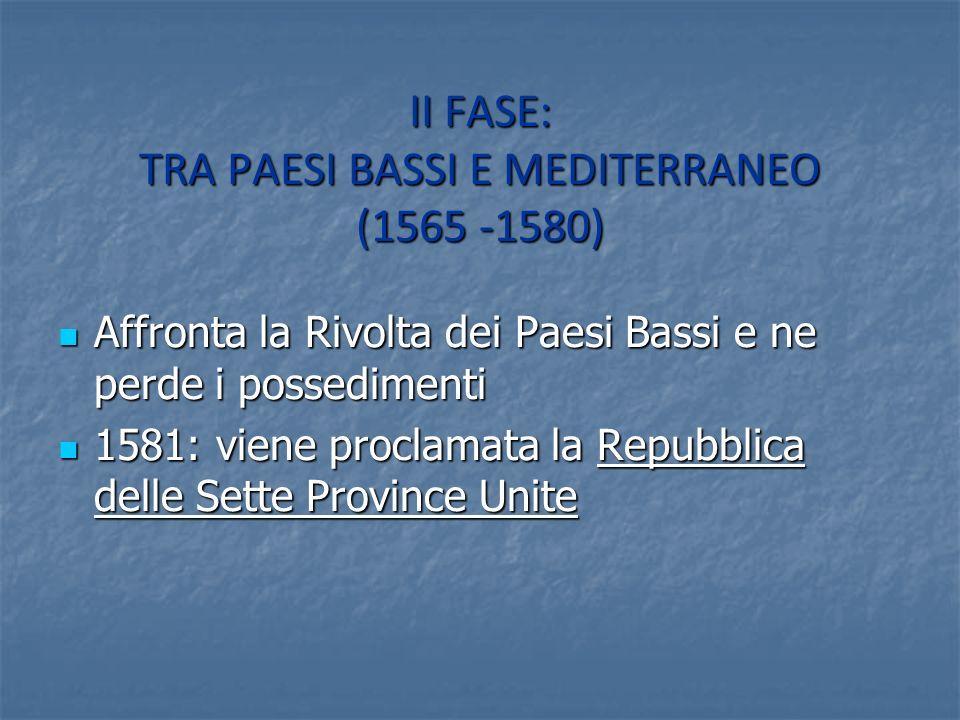 II FASE: TRA PAESI BASSI E MEDITERRANEO (1565 -1580)