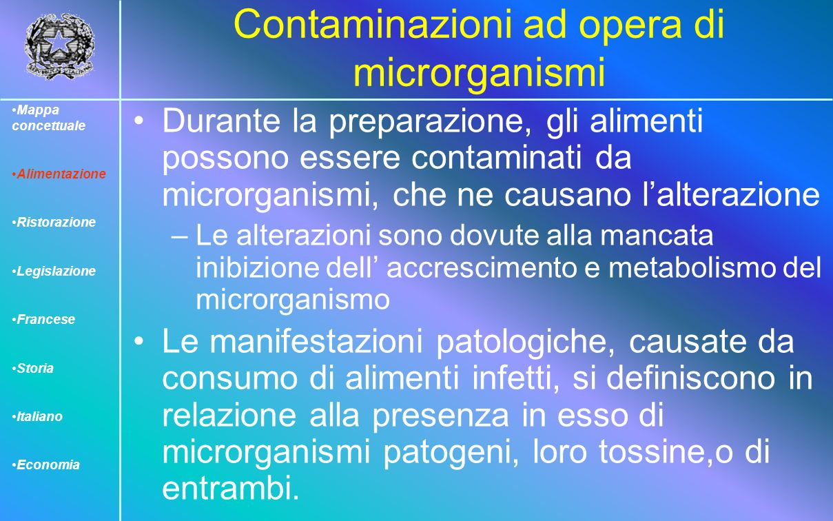 Contaminazioni ad opera di microrganismi