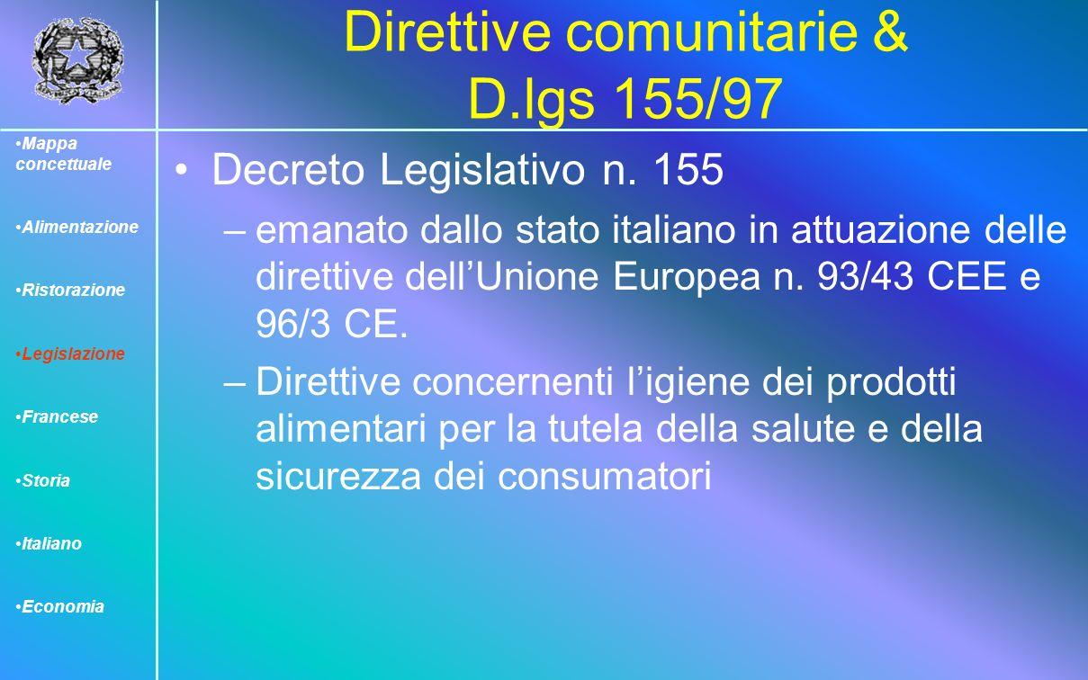 Direttive comunitarie & D.lgs 155/97