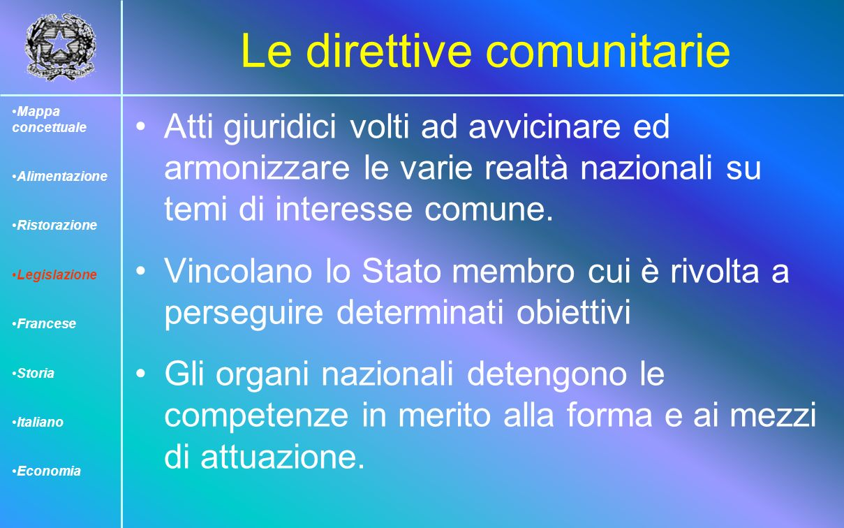 Le direttive comunitarie