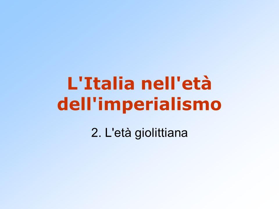 L Italia nell età dell imperialismo