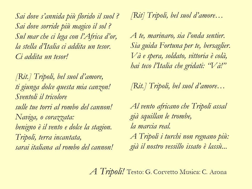 A Tripoli! Testo: G. Corvetto Musica: C. Arona