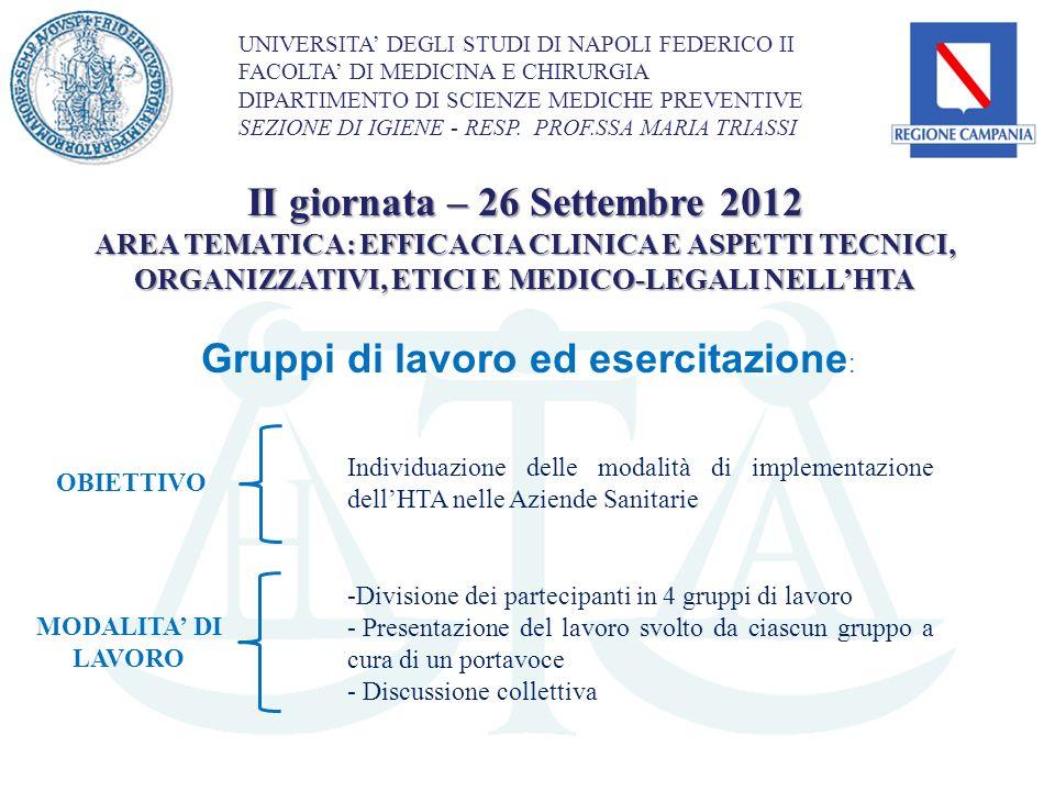 II giornata – 26 Settembre 2012