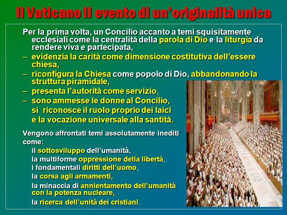 Il Vaticano II evento di un'originalità unica