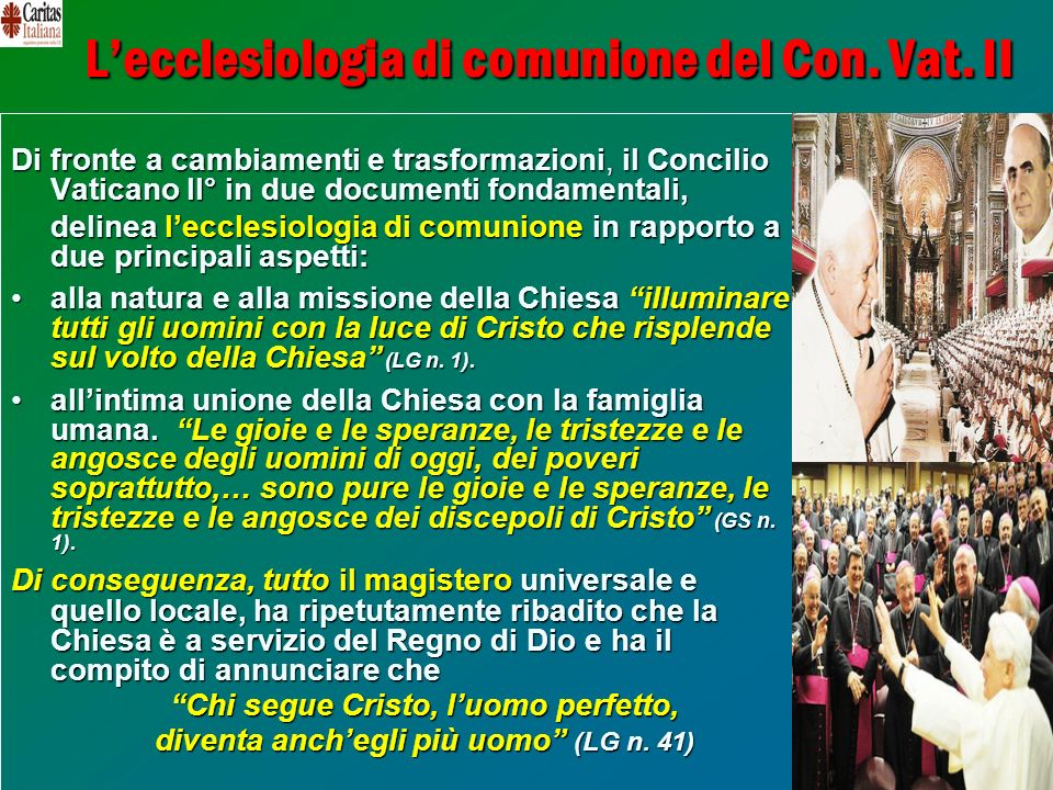 L'ecclesiologia di comunione del Con. Vat. II