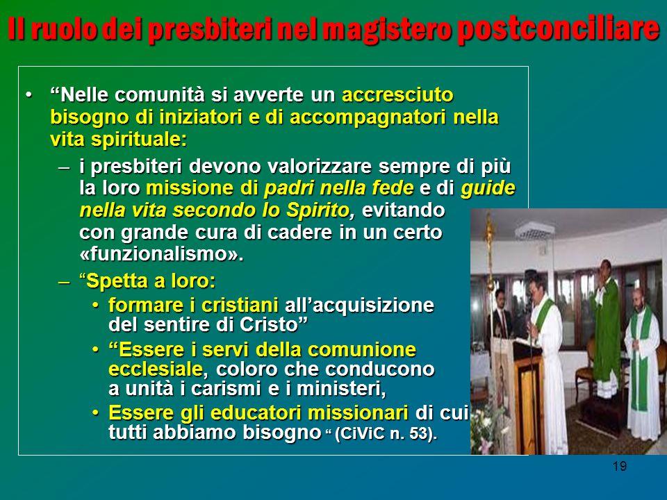 Il ruolo dei presbiteri nel magistero postconciliare