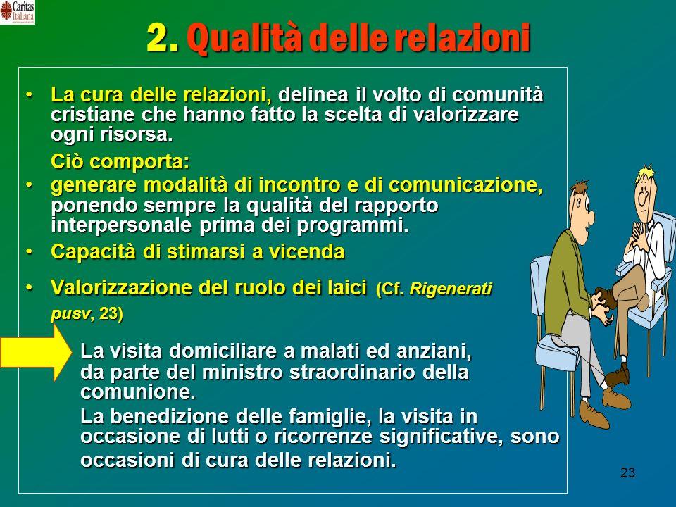 2. Qualità delle relazioni