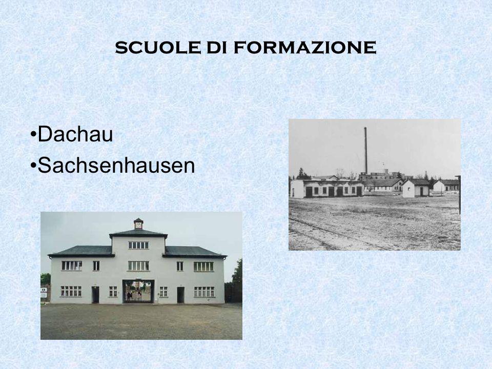 scuole di formazione Dachau Sachsenhausen