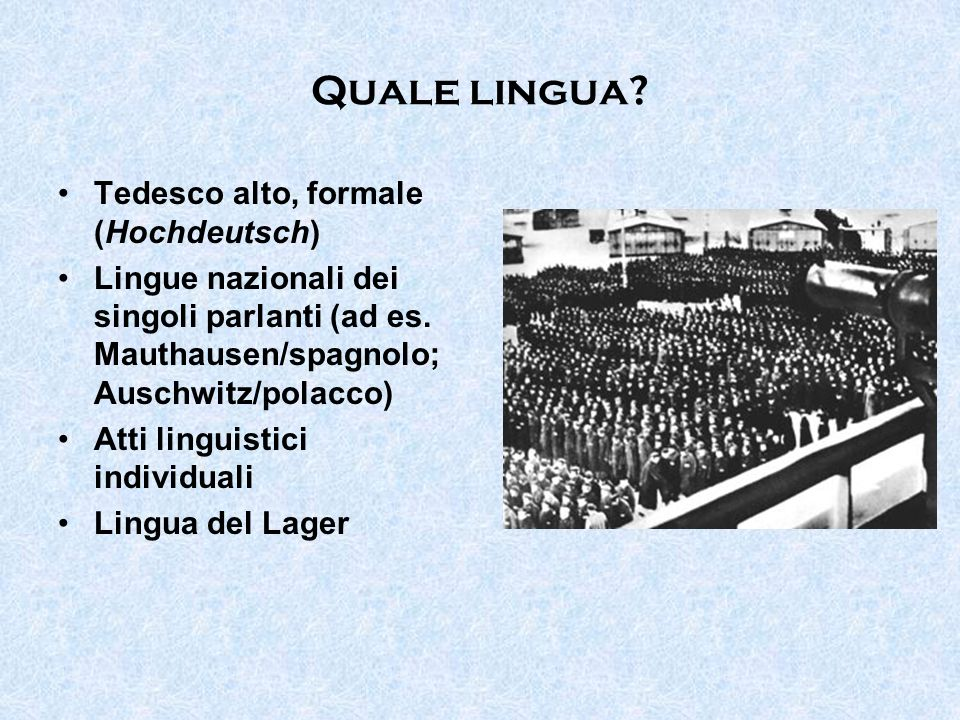 Quale lingua Tedesco alto, formale (Hochdeutsch)
