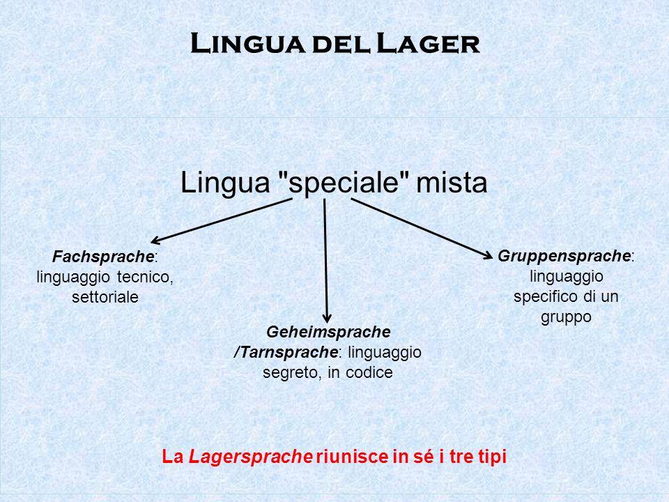 Lingua del Lager Lingua speciale mista