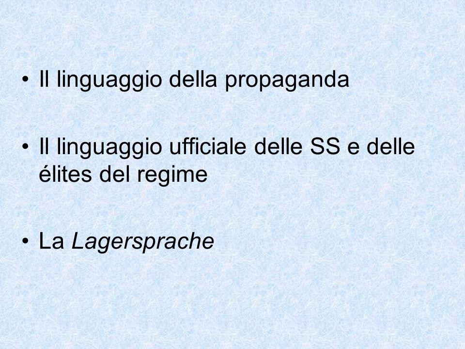 Il linguaggio della propaganda