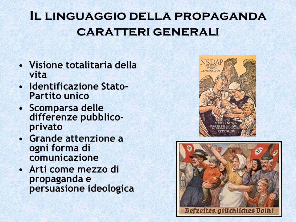 Il linguaggio della propaganda caratteri generali