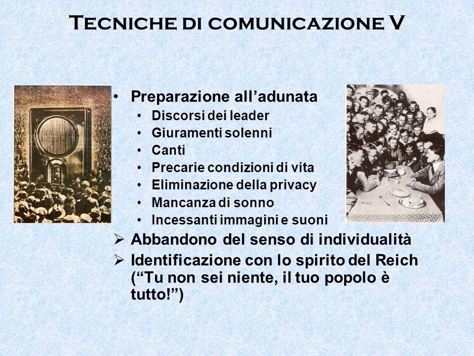 Tecniche di comunicazione V