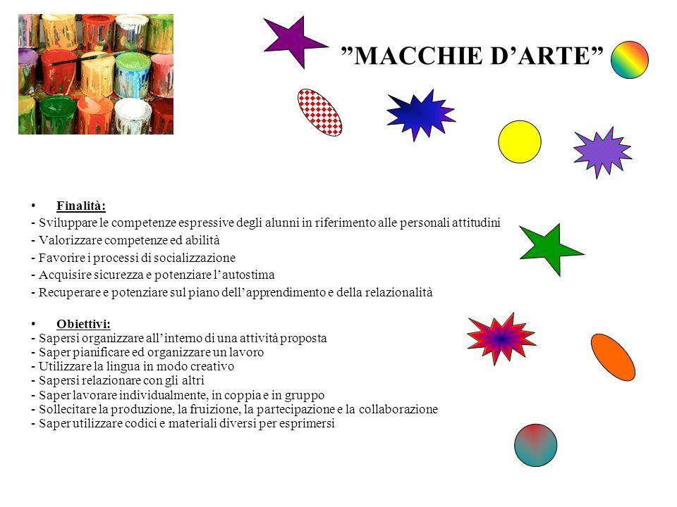 MACCHIE D'ARTE Finalità: