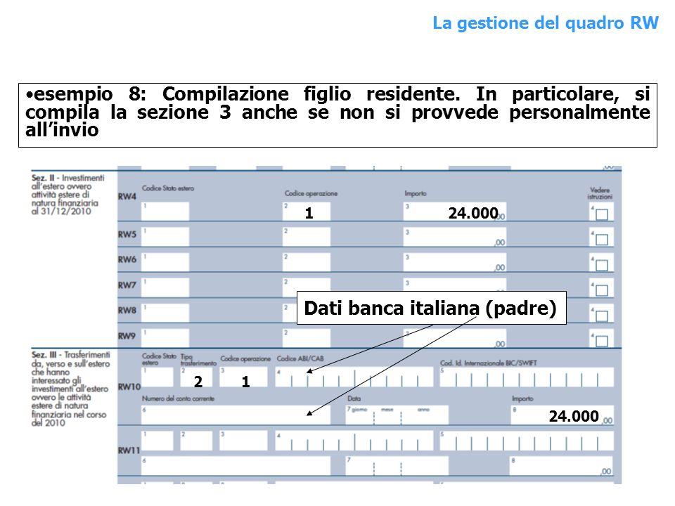 Dati banca italiana (padre)