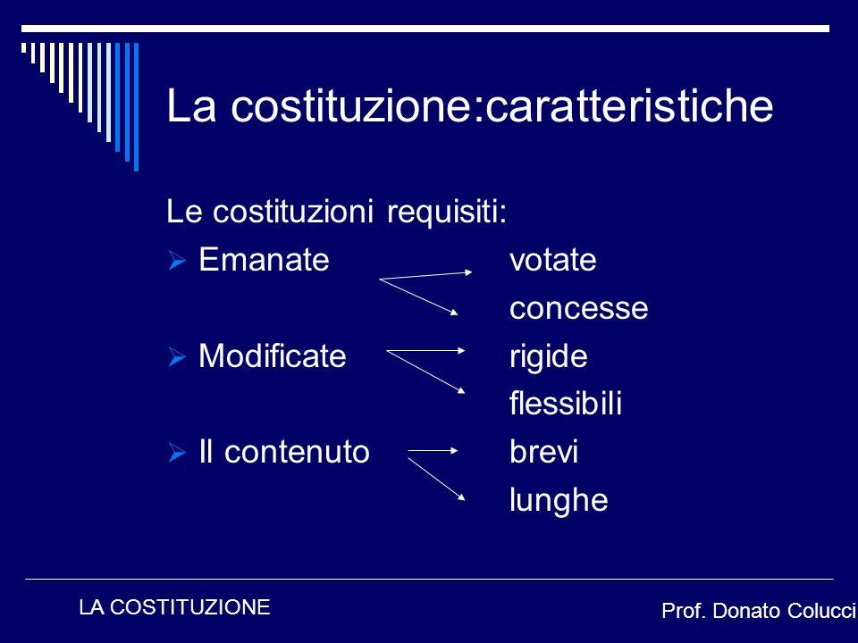 La costituzione:caratteristiche