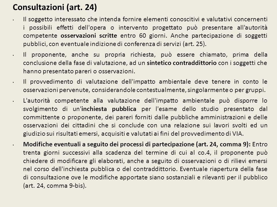 Consultazioni (art. 24)