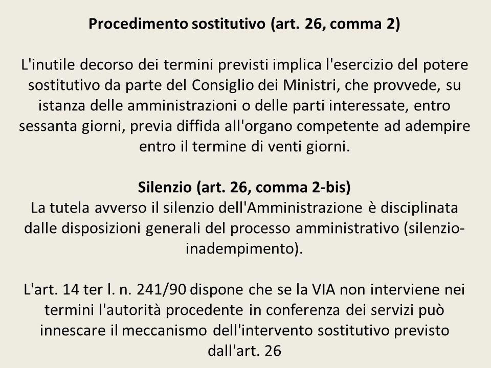 Procedimento sostitutivo (art