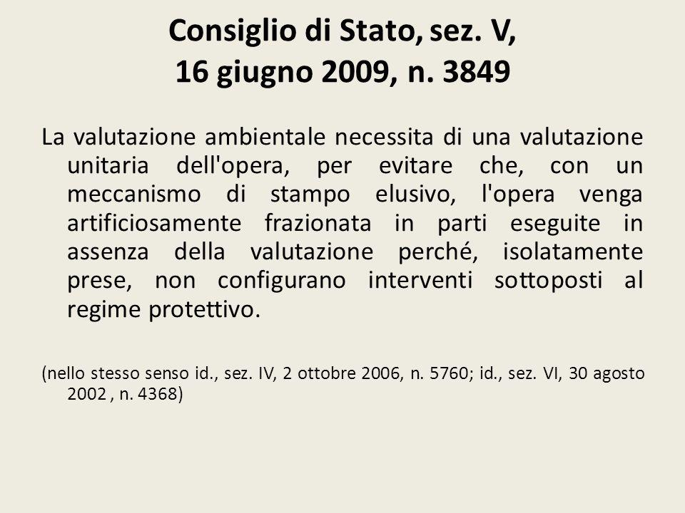 Consiglio di Stato, sez. V, 16 giugno 2009, n. 3849