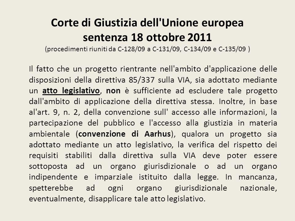 Corte di Giustizia dell Unione europea sentenza 18 ottobre 2011 (procedimenti riuniti da C‑128/09 a C‑131/09, C‑134/09 e C‑135/09 )